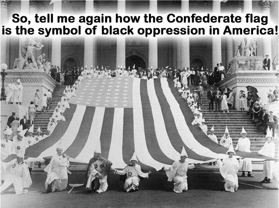 KKK with US stars and stripes