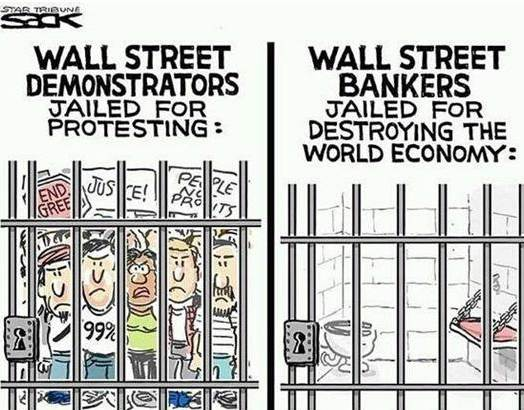 "Occupy Wall St vs REAL Criminals ""If Only They Enforced Bank Regulations Like They Do [<span class="