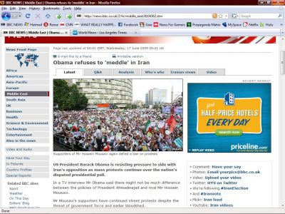 BBC Caught In Mass Public Deception With Iran Propaganda SMALL iran protest rally lie2