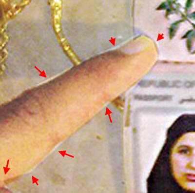 More Fake Photos Emerge In Bin Laden Farce fingerdetailpassportfakeosamawife