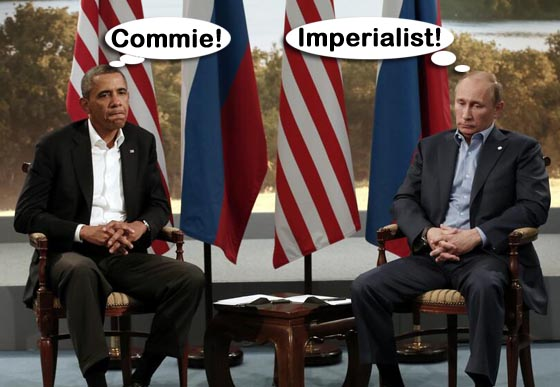 Video: Barack Obama and Vladimir Putin grim-faced on Syria disagreements