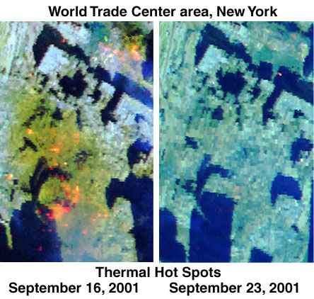 World Trade Center Thermal Hot Spots